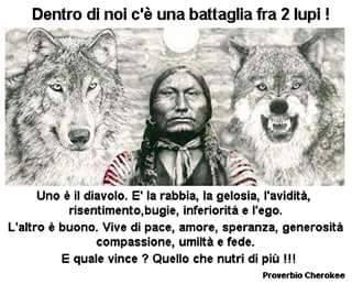 Dentro di noi c'è una battaglia tra due lupi