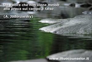 Un valore che non viene messo alla prova sul campo è falso (Alejandro Jodorowsky)