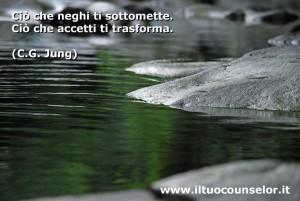 """""""Cio che neghi ti sottomette. Ciò che accetti ti trasforma"""" (Carl Jung)"""