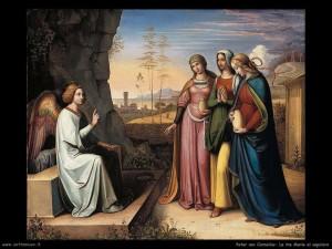 Peter Von Cornelius - Le tre marie al sepolcro (1813c)