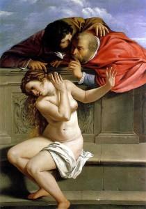 """Artemisia Gentileschi - """"Susanna e i Vecchioni""""."""
