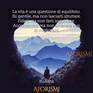 """""""La vita è una questione di equilibrio. Sii gentile, ma non lasciarti sfruttare. Fidati, ma non farti ingannare. Accontentati, ma non smettere mai di migliorarti."""" (Buddha)"""