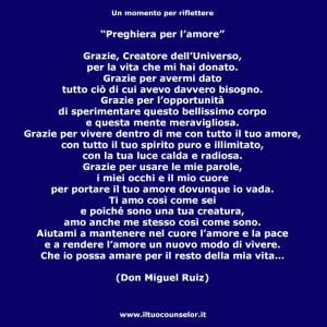 Preghiera per l'amore (Don Miguel Ruiz)