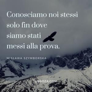 """""""Conosciamo noi stessi solo fin dove siamo stati messi alla prova"""" (Wislawa Szymborska)"""