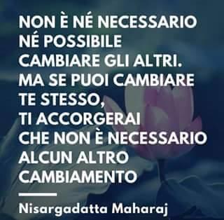 Non è né necessario né possibile cambiare gli altri. Ma se puoi cambiare te stesso, ti accorgerai che non è necessario alcun altro cambiamento