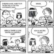 È proprio un bel muretto di pietre quello che stai costruendo Linus…