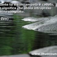 """""""Nonostante tu sia inciampato o caduto ciò non significa che hai intrapreso il cammino sbagliato"""" (Detto Zen)"""