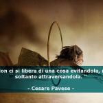 """""""Non ci si libera di una cosa evitandola, ma soltanto attraversandola."""" (Cesare Pavese)"""