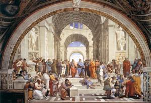 Raffaello Sanzio, scuola, Atene, pittura