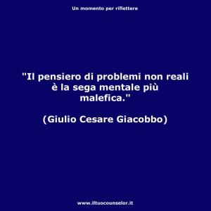 """Del come sono fatte le """"seghe mentali"""" (Giulio Cesare Giacobbe)"""