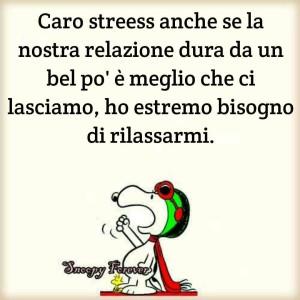 Caro stress anche se la nostra relazione dura da un bel po' è meglio che ci lasciamo, ho estremo bisogno di rilassarmi