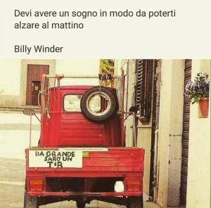 """""""Devi avere un sogno in modo da poterti alzare al mattino."""" (Billy Winder)"""