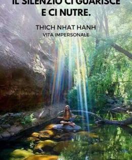 """""""Il silenzio ci guarisce e ci nutre."""" (Thich Nhat Hanh)"""