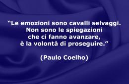 """""""Le emozioni sono cavalli selvaggi. Non sono le spiegazioni che ci fanno avanzare, è la volontà di proseguire."""" (Paulo Coelho)"""