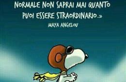 """""""Se cerchi sempre di essere normale non saprai mai quanto puoi essere straordinario."""" (Maya Angelou)"""