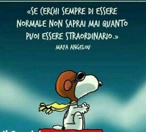 """""""Se cerchi sempre di essere normale non saprai mai quanto puoi essere straordinario."""" (Maya Angelov)"""