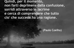 """""""Un bel giorno tutto avrà un senso. Quindi, per il momento, non farti deprimere dalla confusione, sorridi attraverso le lacrime e cerca di comprendere che tutto ciò che succede ha una ragione"""" (Paulo Coelho)"""
