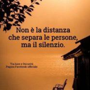 """""""Non è la distanza che separa le persone, ma il silenzio"""" (Cit.)"""